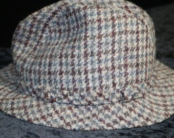 201741365f7 HARRIS TWEED Stetson Stingy Brim Fedora Hat - Size 7 Hustler Style tweed  fedora hats