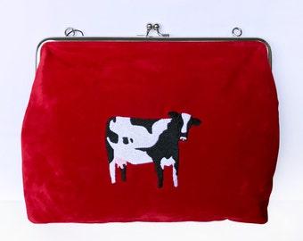 COW VELVET CLUTCH
