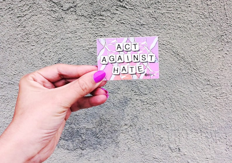 Vinyl sticker pack: Stick together against hate anywhere image 0
