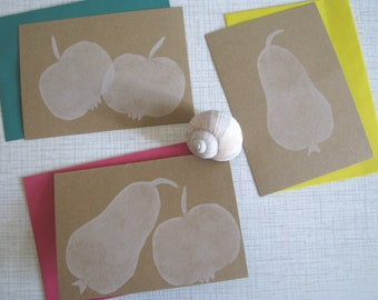 Letter Paperset * Autumn * 6teilig * hand-printed * fruit