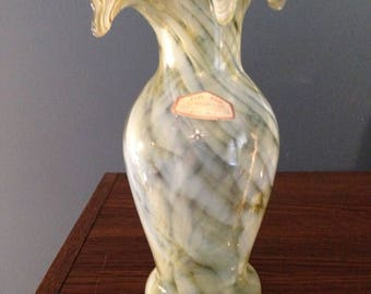 Vintage Old Hickory Hand Blown Glass Vase #1033