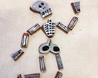 Bag of Bones Handmade Ceramic Mosaic Tile Grab Bag