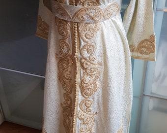 Moroccan sparkly glitter kaftan dress