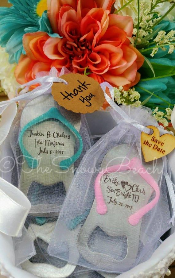 30 Custom Flip Flop Flaschenoffner Hochzeitsgeschenke Etsy
