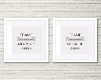Double Digital Frame Overlay Two Square Frames Wooden Etsy