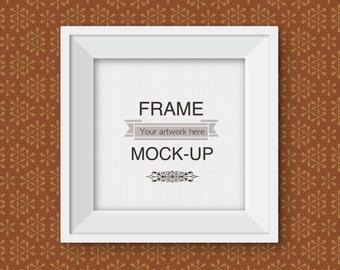 Square Frame Mockup Gold Frame Mockup 10 X 10 Inch Mockup Etsy