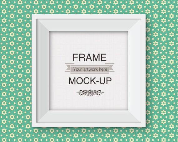 10 X 10 Inch Frame Mockup Square Frame Mockup Retro Etsy