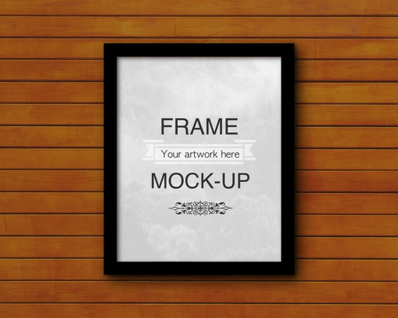 Black Digital Frame Wooden Background 4 X 5 8 X 10 16 X Etsy