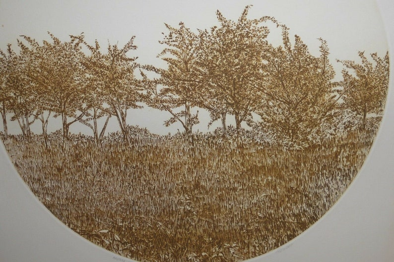 Ruth Leaf Another Time Round Print Etching Signed Limited Edition 48275