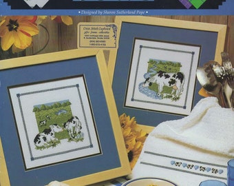 An Udder Book of Cows Cross Stitch Book by Sharon Sutterland Pope -- Great Big Graphs - VCL-20101