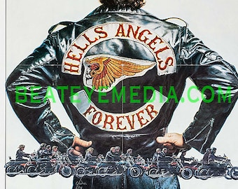 Hells Angels,Movie Poster-Biker,MOTORCYCLE,HARLEY,Hot Rod,TATTOO,Ed Roth,Outlaw,Movies,rat rod,comic art,comic,rat fink,chevy,big daddy roth