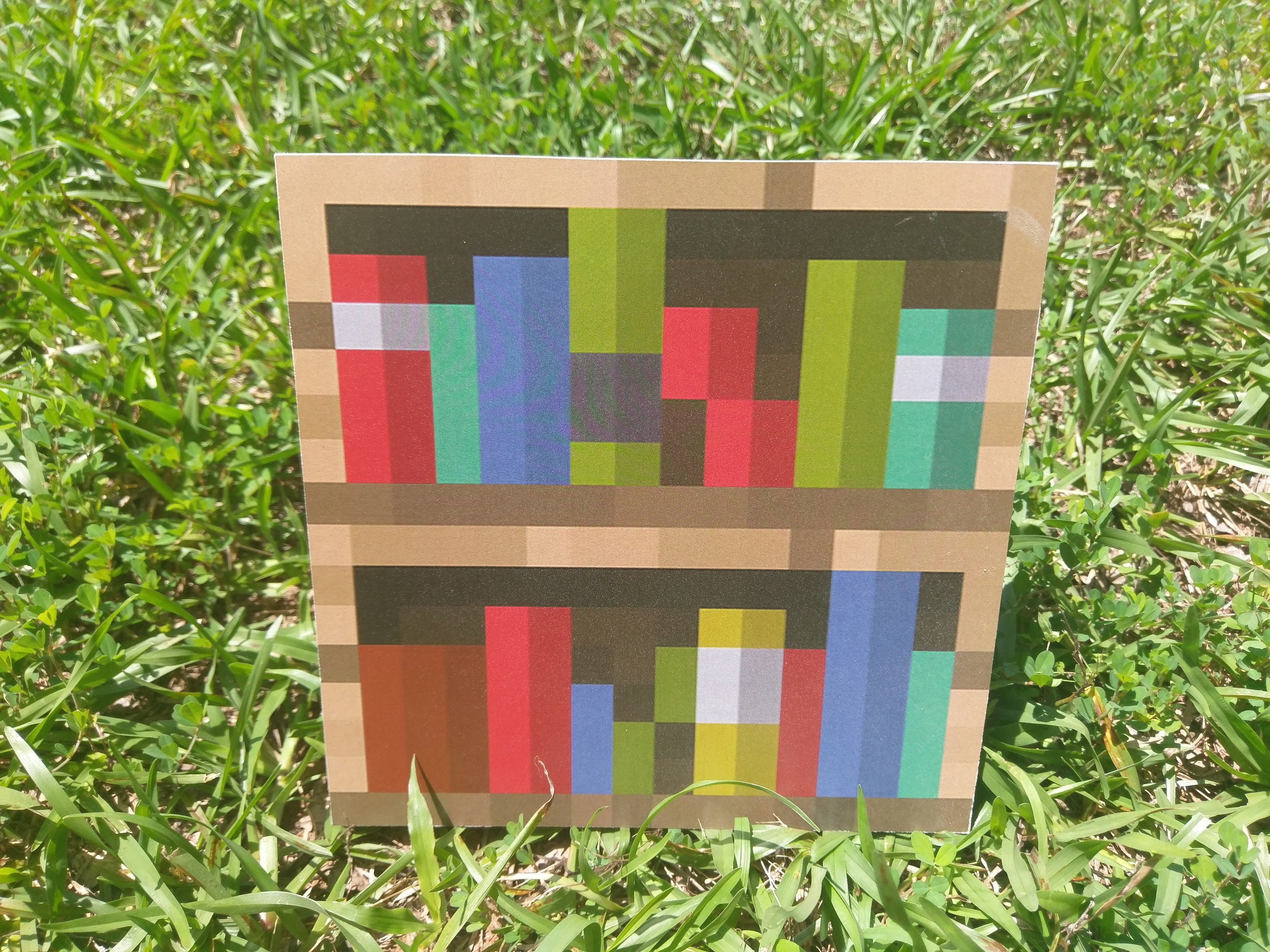 Minecraft Bookshelf Block Wood Decor For Kid S Bedroom Or Birthday Party