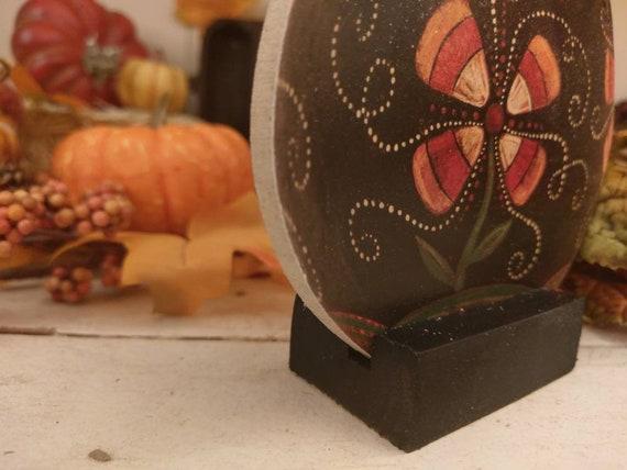 Johanna Parker Halloween Green Jack O Lantern Pumpkin Wood Cutout