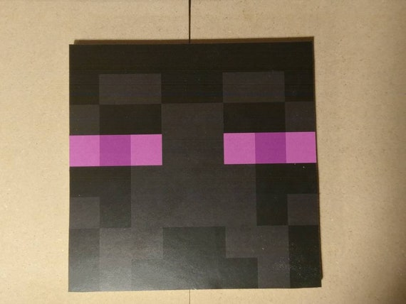 Minecraft Enderman Head Block Wood Decor For Kids Bedroom Or Birthday Party