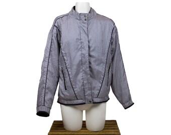 Ellesse Grey/Black Women's  Bomber Jacket - Size 6