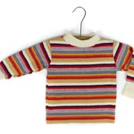 Burt and Ernie Vibes Health Tex- Vintage Striped Multi-Colored Long Sleeve Shirt - 3T - Unisex