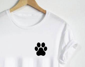 a627c1d80 Paw Print Shirt - Paw Tshirt Unisex Shirt or Womans shirt Mens Gift V neck Dog  Cat Puppy Kitten Hand Cute Simple Dog Shirt Cat Shirt Pet Tee