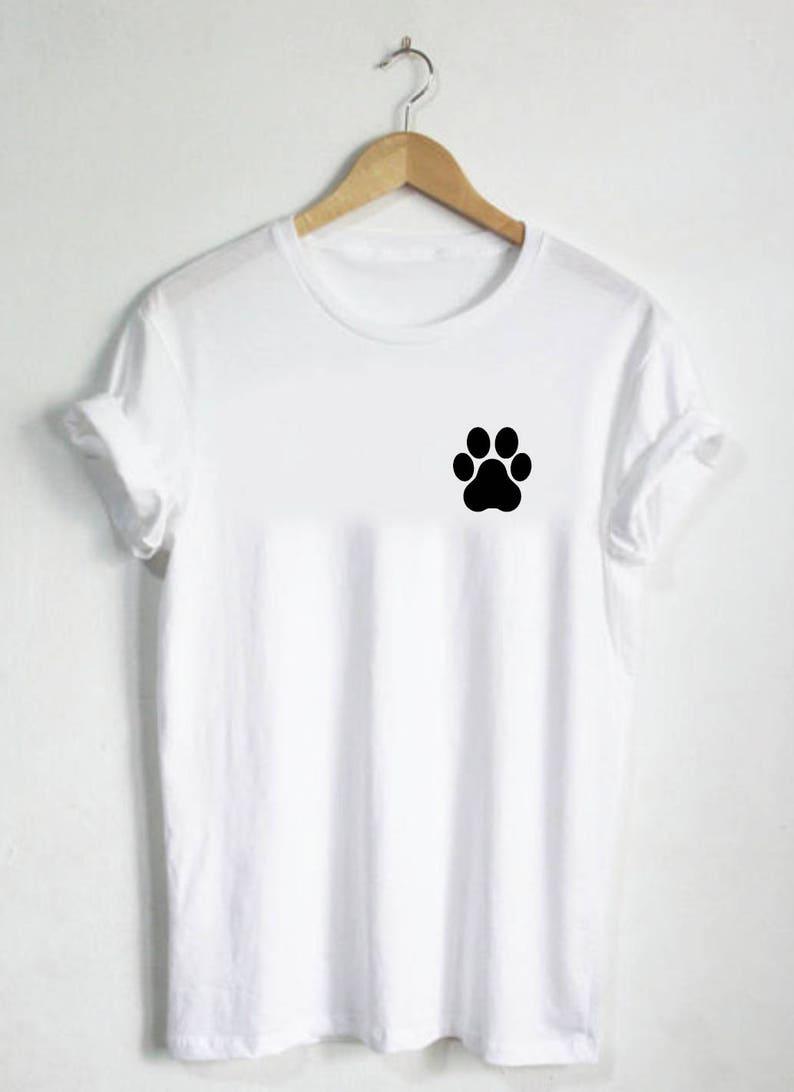 b038f1f34 Paw Print Shirt Paw Tshirt Unisex Shirt or Womans shirt Mens | Etsy