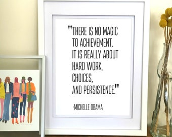 office decor for women. Interesting Women Michelle Obama Quote Print  Poster Office Decor For Women  Inspirational Wall Art Gifts Her And For E