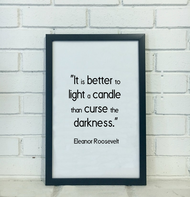 Eleanor Roosevelt Quote Print Inspirational Quote Poster Etsy