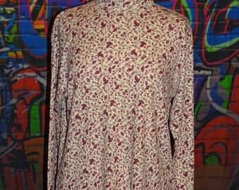 Novelty, Autumn,winter,spring roll-neck, turtleneck, skivvy, long sleeve top, jumper with flower/leaf motif by Bobbie Brooks