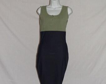 1980's Vintage Bodycon midi dress