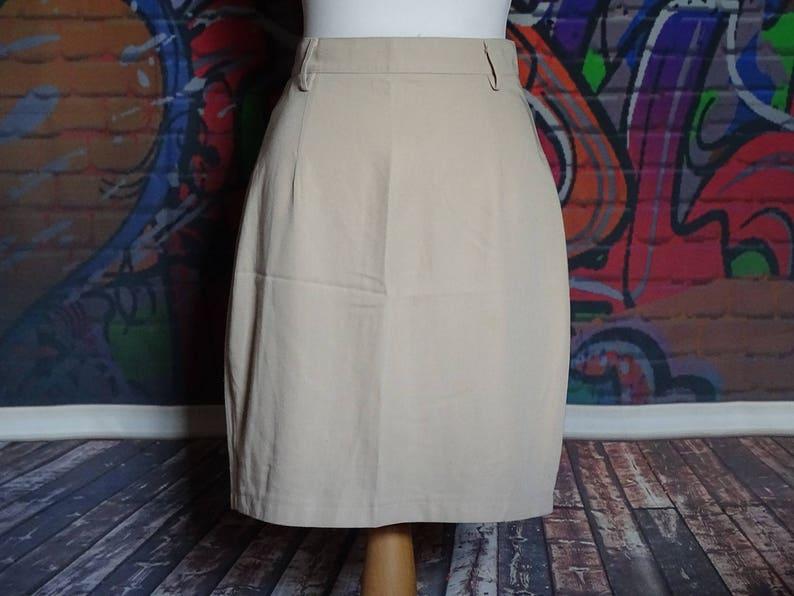 c8432377a2 Vintage beige / light brown pencil skirt work skirt | Etsy