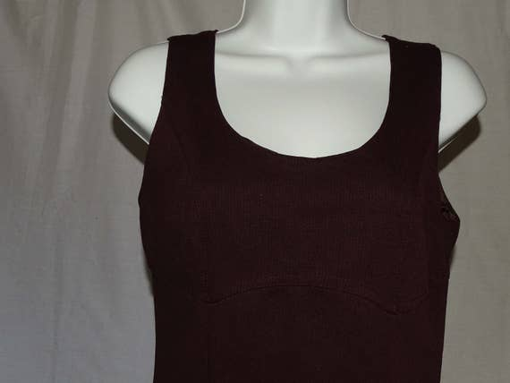 Lovely 1990's brown/purple textured dress by NAF N