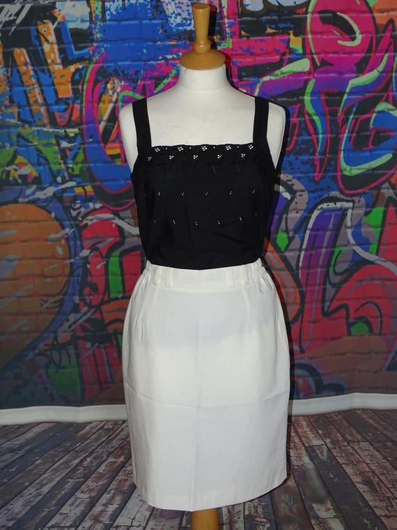 0ffa742f8f Vintage white pencil skirt white work skirt summer/holiday | Etsy
