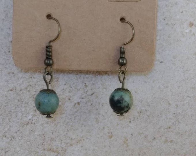 African jade bead earrings,dangle earrings, drop earring, gemstone earring, Boho earrings, Jade Earrings, African earrings, jade earrings,