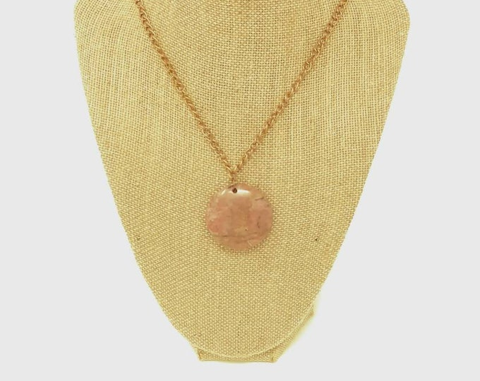Rhodonite gemstone pendant necklace
