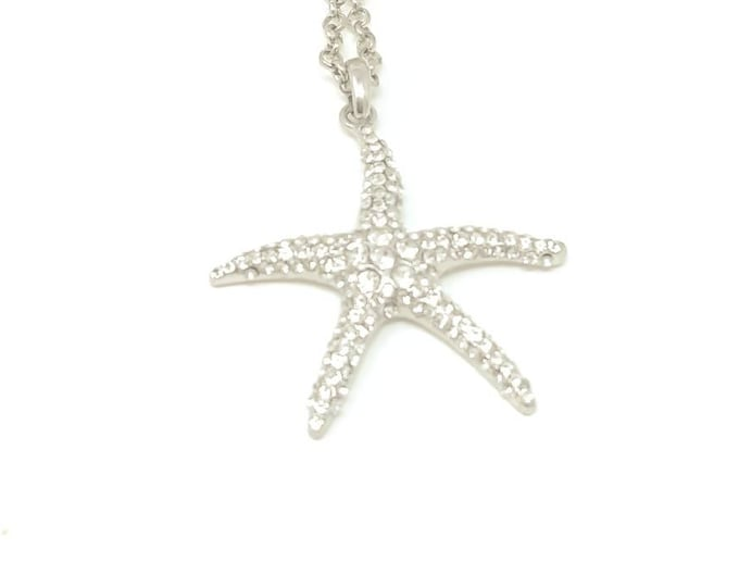 Starfish rhinestone necklace