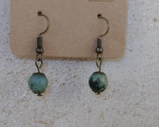 African jade bead earrings,dangle earrings, drop earring, gemstone earring, Boho earrings, Jade Earrings, African earrings, jade earrings,
