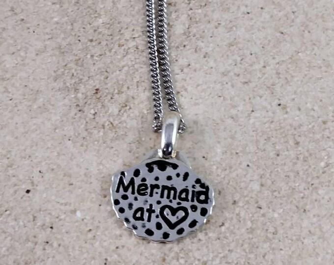 Mermaid necklace, Silver Jewelry, Silver Necklace,  Necklaces, Mermaid  Charm Necklaces, beach lovers gift, beach jewelry, Mermaid theme,