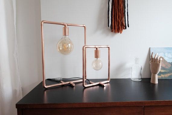 Square lamps Handmade copper lamp table lamp desk lamp accent lamp reading lamp