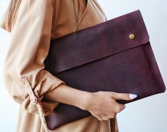 Handmade leather folder, Leather document holder, Folder Case, office paper case, Macbook leather case, Bag For Documents,portfolio folder