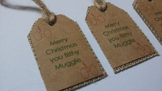 Harry Potter Christmas Gifts.Harry Potter Gift Tags Pack Of 4 Gift Tags Rustic Tags Kraft Gift Tags Rustic Christmas Gift Tags