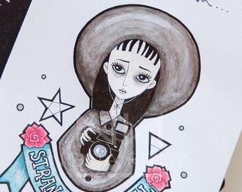 Print of my Lydia Deetz illustration. Beetlejuice