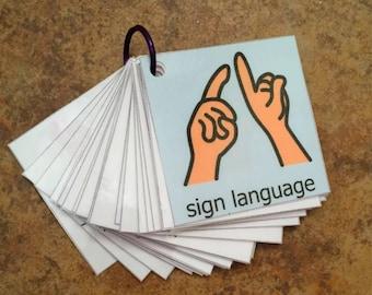 graphic regarding Sign Language Flash Cards Printable identified as Signal language card Etsy