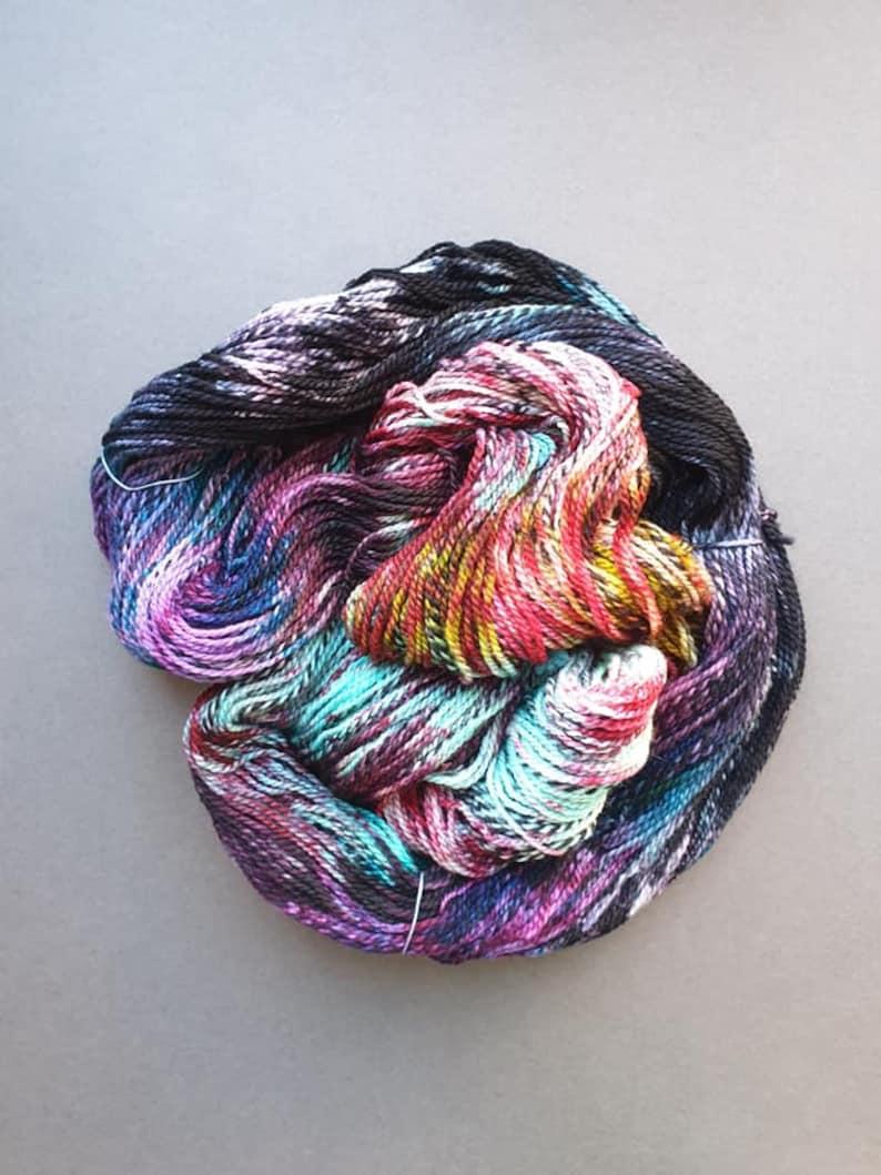 ZOMBIE BRIDE on the Zebra Merino Base 100g Hand dyed yarn image 0