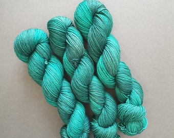 EMERALD CITY on the Merino / Nylon DK Base - 100g Hand Dyed Yarn - Superwash Merino / Nylon yarn. Double Knitting - 8-Ply Wool. Gift Craft