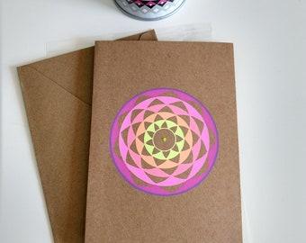 Blanco handmade mandala card