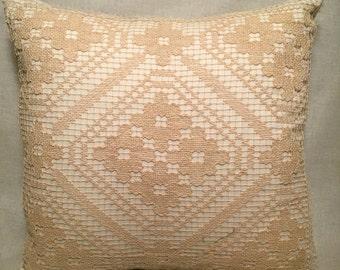 Handmade Vintage Filet Lace Pillow