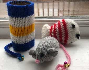 Cat toy gift set, gifts for kitten,cat nip toys, gifts for animal lovers, gifts for cat lovers, set of three toys, new pet, cat accessories