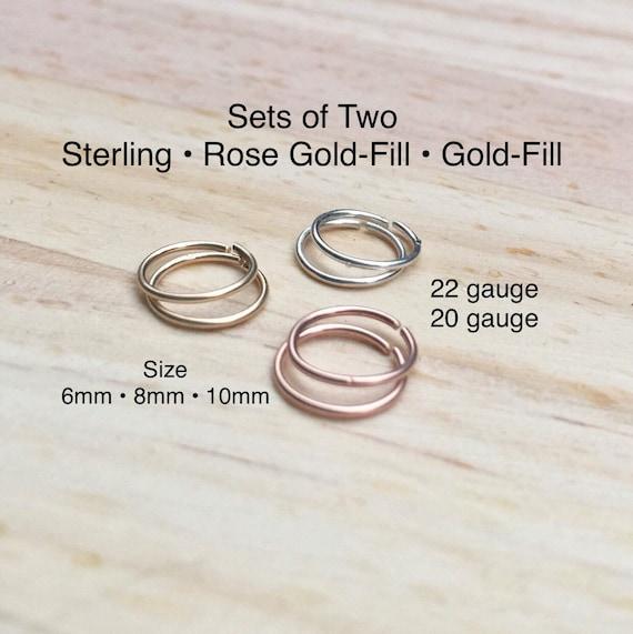 daith helix hoop 6mm tiny hoops 20g 22g tragus 10 Endless septum ring 6 mm Sterling silver cartilage hoop Silver hoop nose ring 8