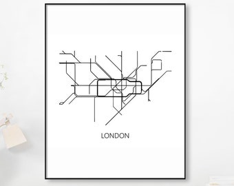 Black And White Subway Map.Moscow Subway Map Print Moscow Metro Map Postersubway Map Etsy