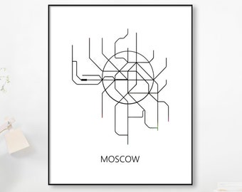 Black And White Subway Map.Gold Foil Metro Mapmoscow Subwaymap Print Moscow Metro Map Etsy