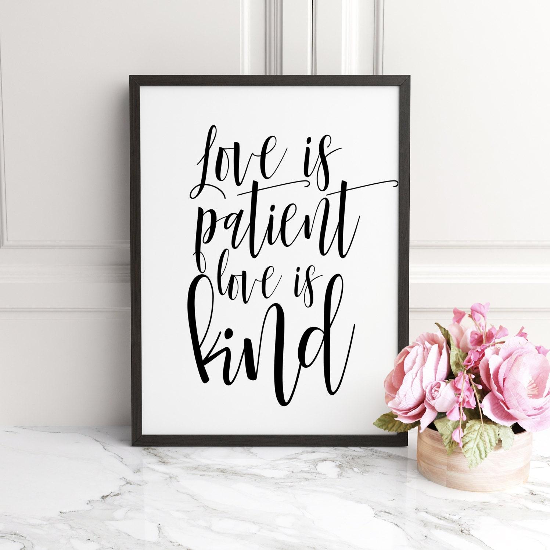 PRINTABLE ART Love Is Patient Love Is Kind 1 Corinthians