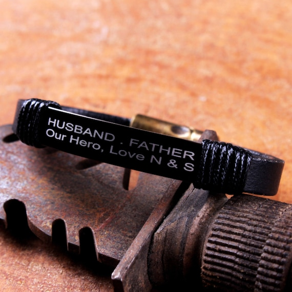 Personalized Leather Husband Gift Dad Quotes Father Etsy