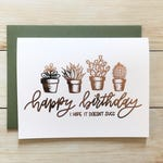Hope it Doesn't Succ Birthday Foil Card | gold rose gold copper gift cactus succulent plant stationary